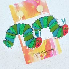 Caterpillar - Acrylic Dangle Earrings