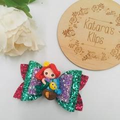 Disney Princess Inspired Ariel Little Mermaid Bow, Birthday Bow