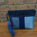 Recycled Denim Patchwork Pouch