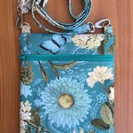 Turquoise Floral Cross Body Bag