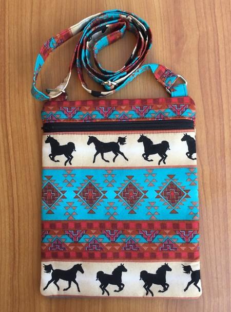 Cross Body Bag - Tribal Horses
