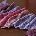 Wood Nymph triangle crochet scarf