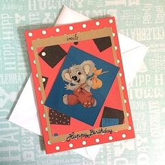 'Blinky Bill' Red Birthday Card