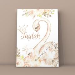 Swan  Personalised Printable Download