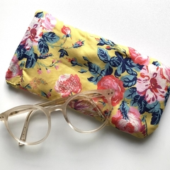 Liberty London magical bouquet yellow floral glasses / sunglasses case