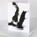 Art card, expressive, brushstrokes, contemporary art, unique design - Incite