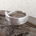 SPOON RING, Sterling Silver. Upcycled from Art Deco Silverware.