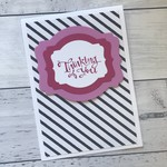 Black, White & Pink Thinking of You Card, Get Well, Just Because