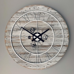 Rustic Hampton's Inspired Oversized Clock (White)