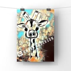 Abstract Giraffe #3  Print