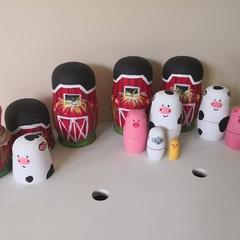 EIEIO Farmyard Nesting Dolls