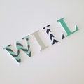Name Plaque for Wall or Door.  6cm. 4 letters.