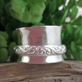 Sterling silver SPINNER RING, Upcycled from Vintage Silverware.