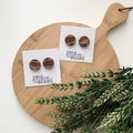 Etched Fern Maple Wood Studs