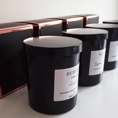 MULLED WINE Scented 100% soy wax medium black glass tumbler candle, 180g