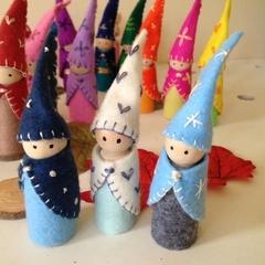 Peg Dolls Forest Friends Gnomes  Winter