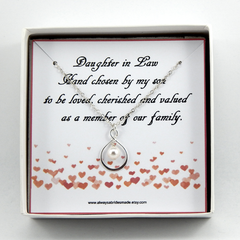 Daughter In Law Necklace, Daughter  In law Gift