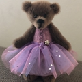 Camille - a miniature ballerina bear, adult collectible