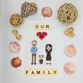 Custom made cross stitch family portraits