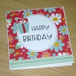Female Happy Birthday card - flowers