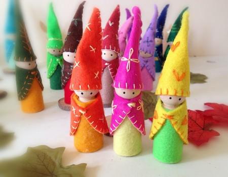 Peg Dolls Forest Friends Gnomes Summer