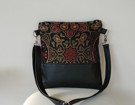 Black Multi and Leather