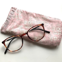 Liberty London 'Morning Dew' dusky pink floral glasses / sunglasses case