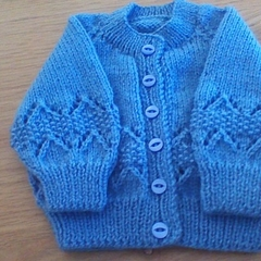 Baby Boys Blue Cardigan to fit 0 to 3 Months.