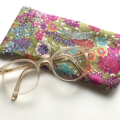 Liberty London 'Lima Fuschia' bright floral glasses / sunglasses case