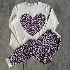 Leopard Heart PJ set