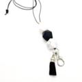 Black & White Tassel Lanyard