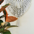 Grey Macrame Wall Hanging, Wall Decor, Art
