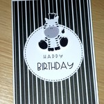 Unisex Happy Birthday card - zebra