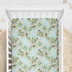 Cot Sheet, Custom Made and Printed in Australia. Eco Friendly Cotton Sateen