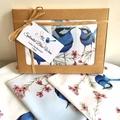 Australian Handkerchief 3 pack Blue Wren