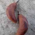 Bend earrings. Handcrafted from reclaimed canadian cedar sterling silver hooks.