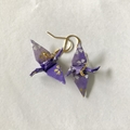 Handmade Origami Crane Earrings High quality traditional Japanese Washi paper