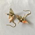 Handmade Origami Crane Earrings High quality traditional Japanese Washi paper