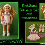 "Tennis Set for A 18"" Doll"