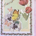 The Green Fairy with Butterflies and Flowers Birthday Card