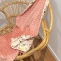 Floral dusty pink blanket