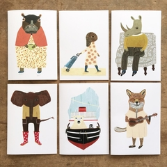'Animal stories' card set.