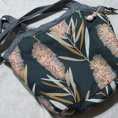 Pink Bottlebrush bucket bag