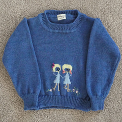 Child's jumper with fairisle motif.