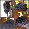 Shades of Grey triangle crochet scarf