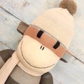 'Anderson' the Sock Monkey - autumn stripes - *MADE TO ORDER*