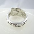 Rose SPOON RING, Sterling Silver. Upcycled Vintage Silverware.