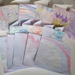 Large Hand Marbled Card Set