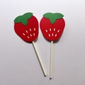 Strawberry Cupcake Toppers. Baby shower, birthday party, tea party.