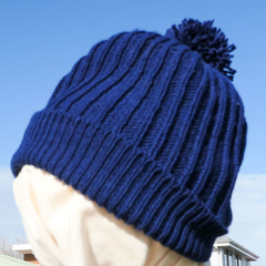 Young child's ribbed hat,  wool, warm, snuggly.